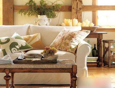 时尚田园风格沙发搭配 亲近自然更舒适