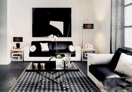 黑白格子地毯
