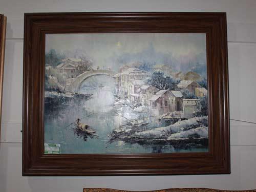 油画挂于家 让墙壁上开满永不凋零的花图片