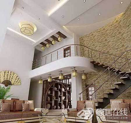 复式楼客厅楼梯设计 妩媚浪漫(组图)