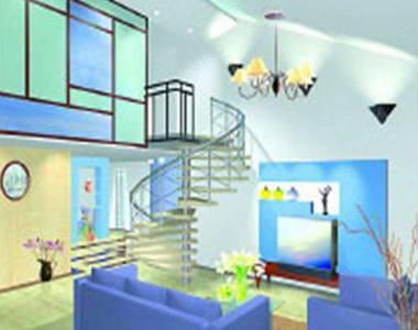 此款楼梯与走廊采用明亮灯光设计,在视觉上形成空间延伸,灯光和主体
