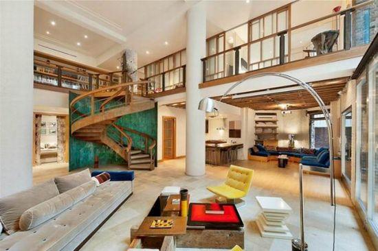 现代迷人loft阁楼设计 楼梯间的小风景