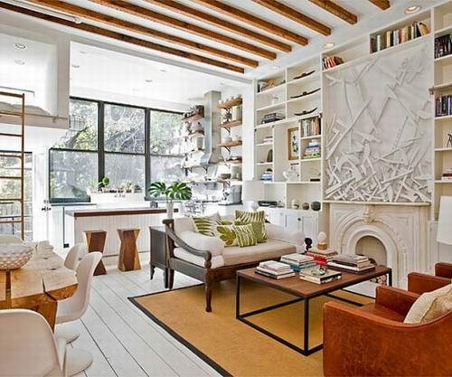 用原木装点北欧风格别墅 室内也能木香扑鼻图片