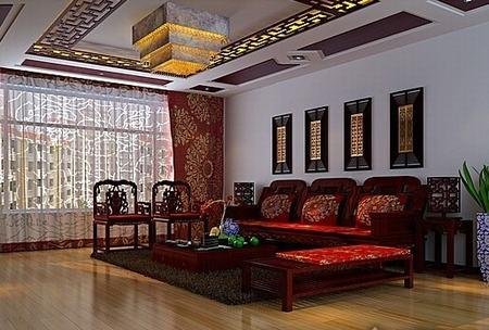 红木欧式客厅效果图