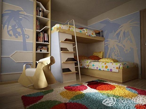 6款上下床儿童房设计参考 可爱又实用