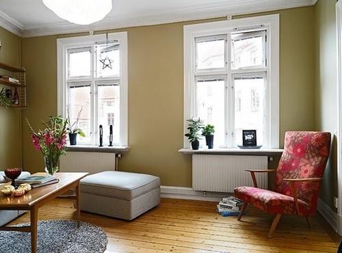 混搭風的北歐現代公寓 大花壁紙的風情
