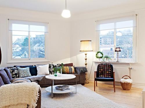80多平两层清新公寓 原木地板+白色墙板