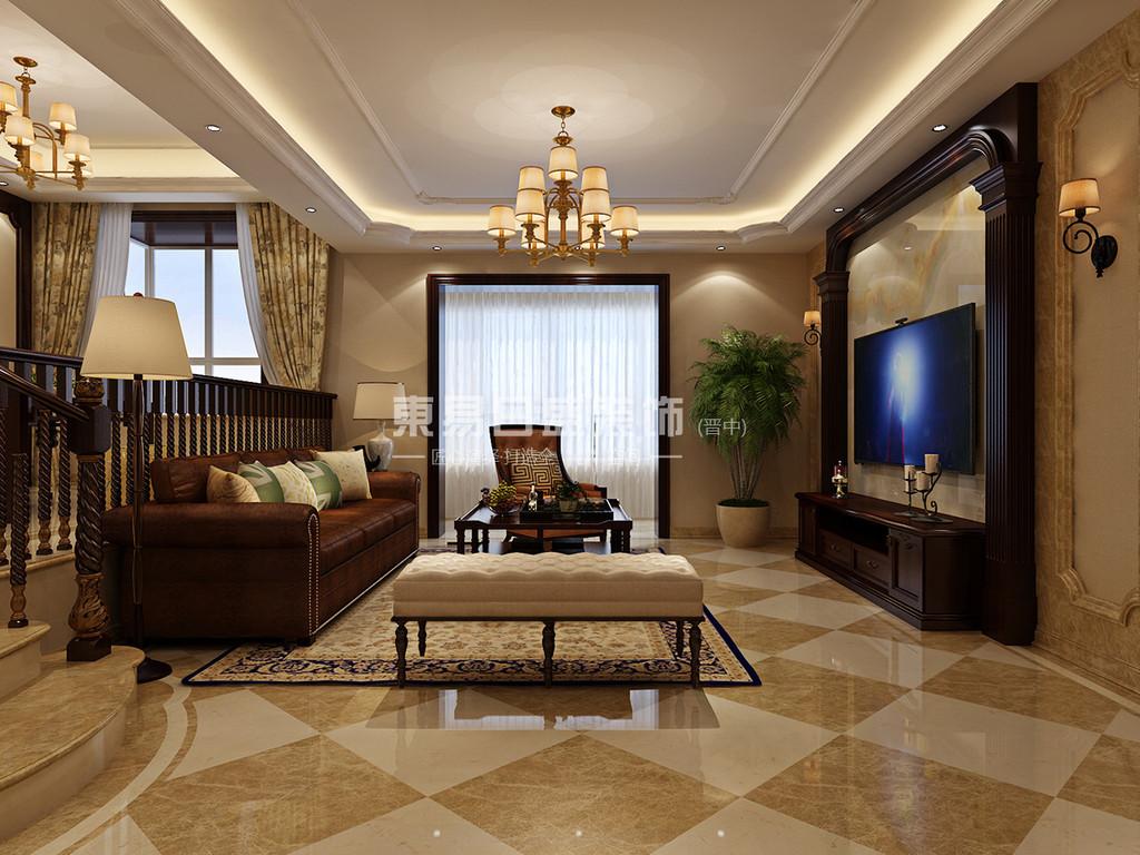 晋中东易日盛装饰客厅设计